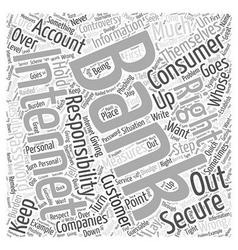 Your consumer rights in internet banking word vector