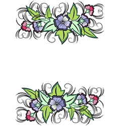 Abstract floral border vector