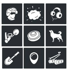 Demolitions sapper icons vector