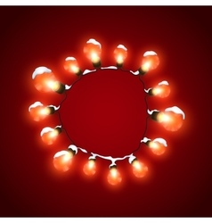 Glowing lights luminous electric wreath vector