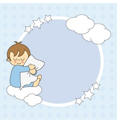 Frame baby boy for text or photo vector