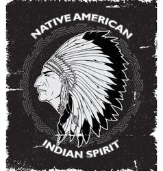 Native american spirit vintage design vector
