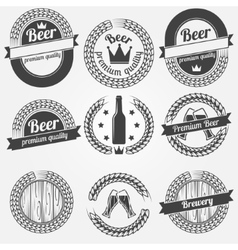 Beer labels or badges vector