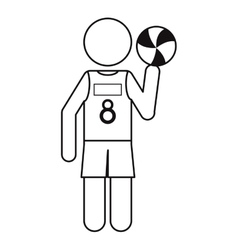 Character player volleyball tshirt number 8 vector