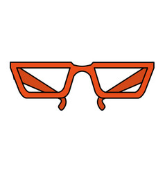 Color image cartoon glasses with modern contour vector