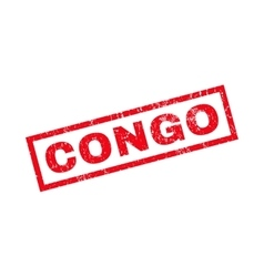 Congo rubber stamp vector
