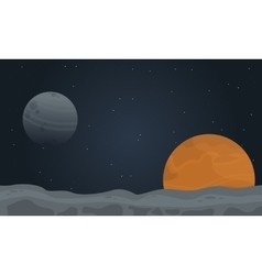 Desert planet outer space vector