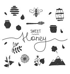 Design elements honey white vector