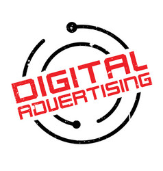 digital advertising rubber stamp vector image