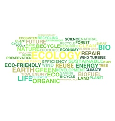 Ecology and sustainable development vector