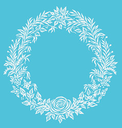 Fine floral round frame decorative element vector
