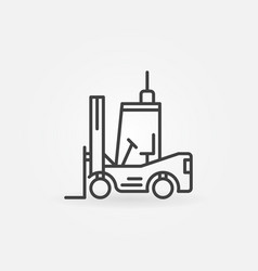 Forklift outline icon vector