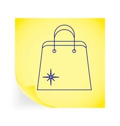 Holiday bag vector