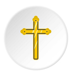 holy cross icon circle vector image
