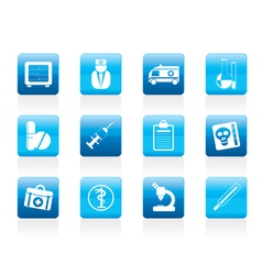 medical and healthcare icons vector image vector image