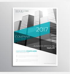 Modern company brochure template presentation vector