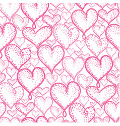 Pink hearts seamless repeat pattern vector