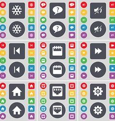 Snowflake chat bubble mute media skip camera vector