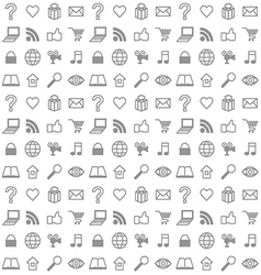 Social media icons seamless background vector image