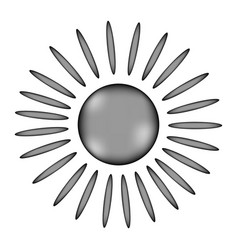 Sun sign icon vector