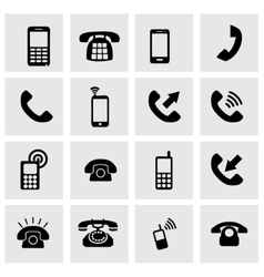 telephone icon set vector image