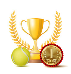 tennis achievement award sport banner vector image vector image