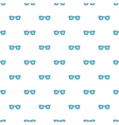 Glasses pattern cartoon style vector image