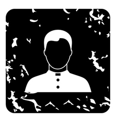 Priest icon grunge style vector
