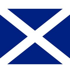 Colored flag of scotland vector