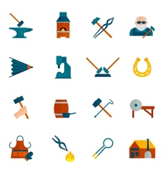 Blacksmith icon flat vector