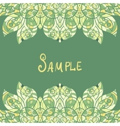Card template for print design ethnic paisley vector