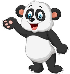 Cartoon panda presenting vector