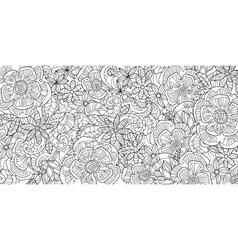 Abstract floral pattern doodle vector