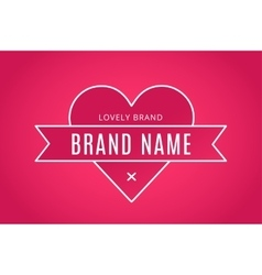Heart icon logo brand concept vector