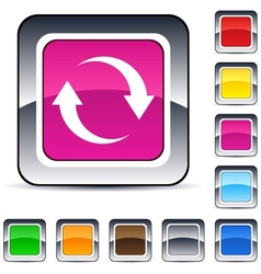 refresh square button vector image
