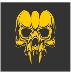 Vampire skull - vector image