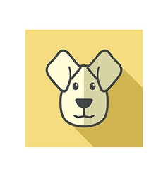 Dog icon farm animal vector