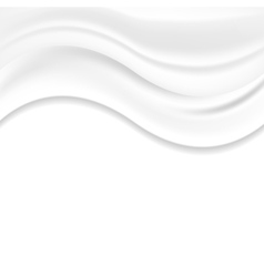 White pearl wavy silk abstract background vector