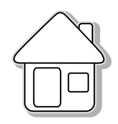 House real estate icon graphic vector