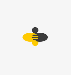 bee honey creative icon symbol hard work vector image vector image