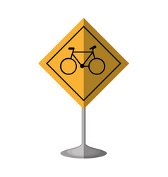 bicycle zone traffic signal vector image vector image