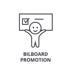 billboard promotion line icon outline sign vector image vector image