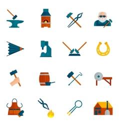 Blacksmith icon flat vector