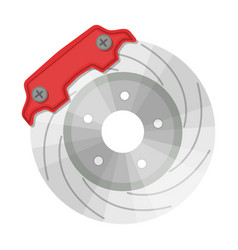 Brake disk single icon in cartoon style for design vector