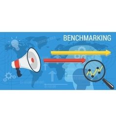 Business background benchmarking vector