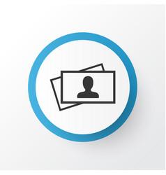 Business card icon symbol premium quality vector