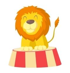 Circus lion icon cartoon style vector
