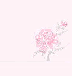 drawing of beautiful peony flower vector image vector image