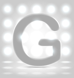 G over lighted background vector image vector image