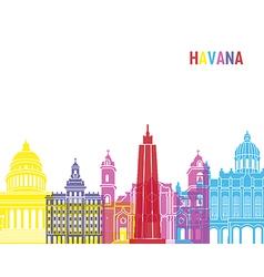Havana skyline pop vector image vector image